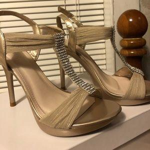 David's Bridal, beautiful nude high heels.